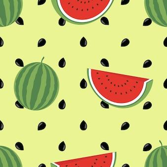 Minimalist watermelon high quality seamless pattern