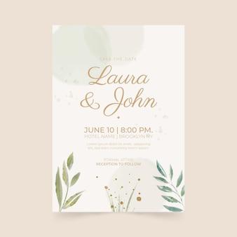 Minimalistwedding invitation
