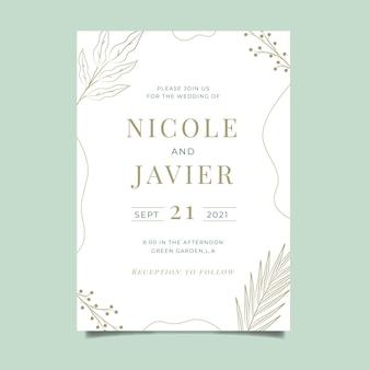Invito a nozze minimalista