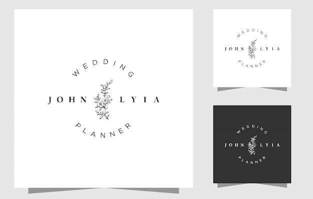 シンプルな結婚式のロゴのテンプレート