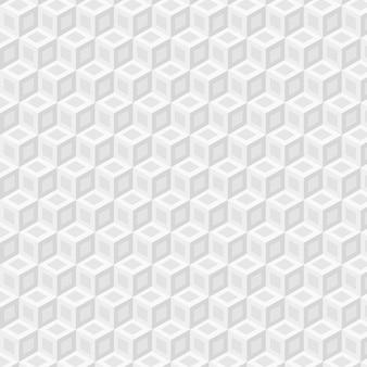 キューブとシンプルな白いパターン