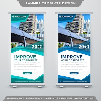 Minimalist x banner template clean style