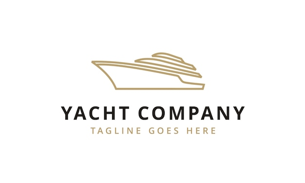 Minimalist yacht / cruise logo design