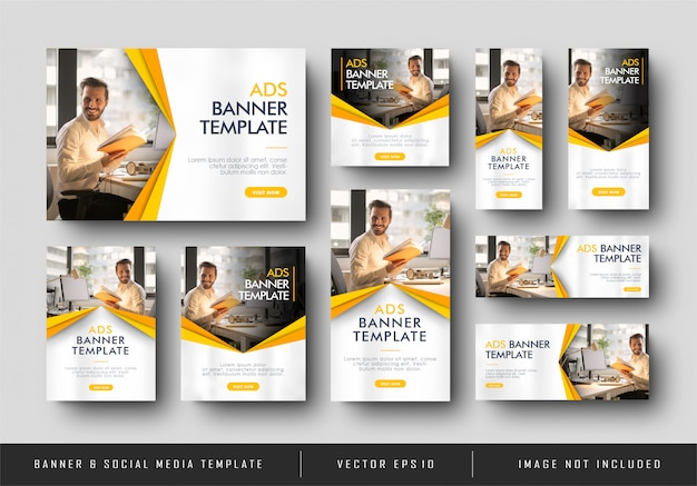 Minimalist yellow corporate business banner