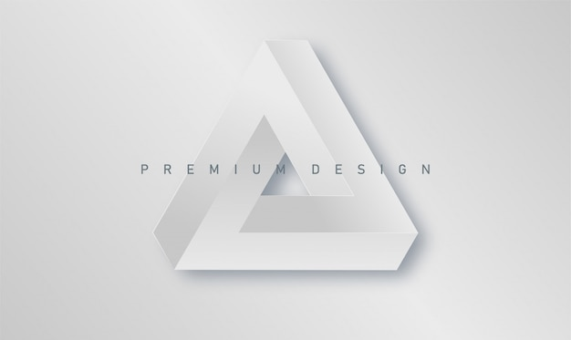 Minimalistic abstract premium design cover with paper penrose triangle poster