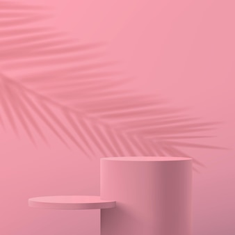 Minimalistic abstract scene in pastel pink colors