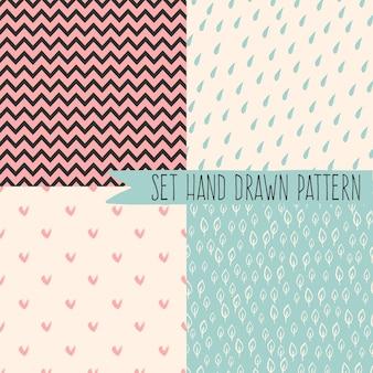파스텔 배경에 기하학적 모양이 있는 최소한의 추상 원활한 패턴입니다. 보헤미안 패턴