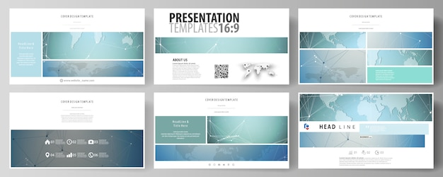 The minimalistic abstract vector illustration of the editable layout of high definition presentation slides design business templates.