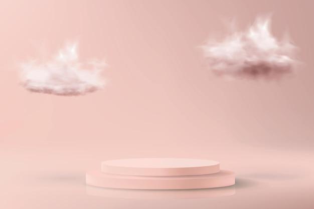 파스텔 핑크 색상의 최소한의 배경