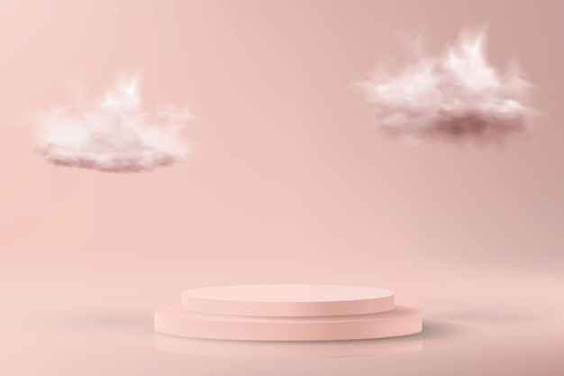 Minimalistic background in pastel pink colors Premium Vector