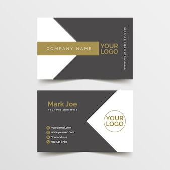 Minimalistic business card template