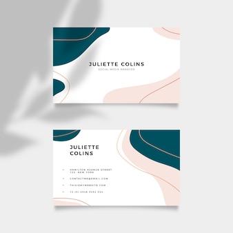 Minimalistic business card template