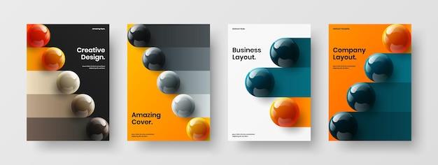 Minimalistic catalog cover a4 design vector concept composition