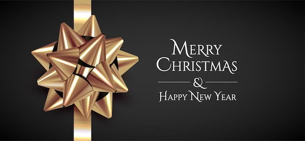 Minimalistic christmas banner template with merry christmas and happy new year