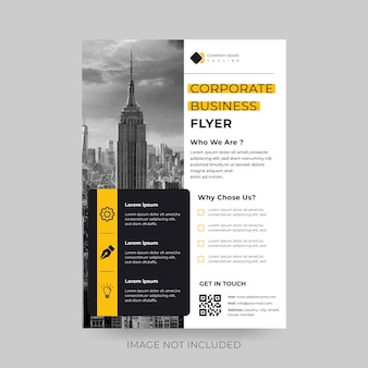 Minimalistic corporate business flyer design