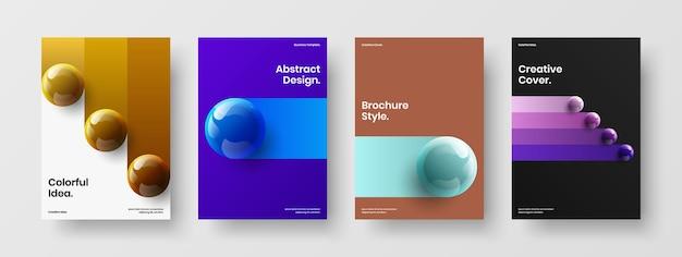 최소한의 기업 표지 벡터 디자인 컨셉 구성