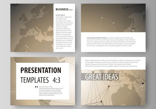 Minimalistic editable layout of presentation slides