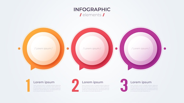 Minimalistic infographic concept with 3 options. vector template