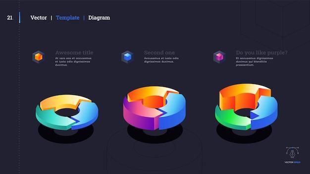 ミニマルなインフォグラフィックプレゼンテーションスライド。モダンなデザイン。