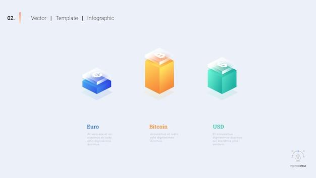 Minimalistic infographic presentation slide