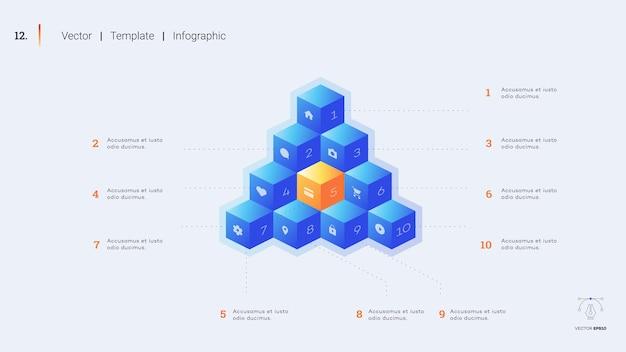 ミニマルなインフォグラフィックプレゼンテーションスライド