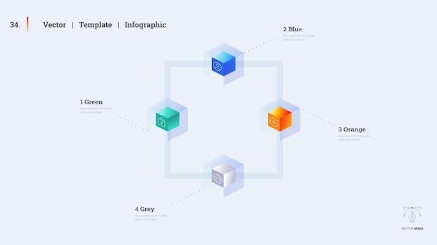 Минималистичный слайд презентации инфографики