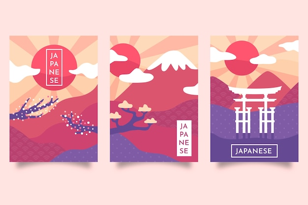 Minimalistic japanese cover collection