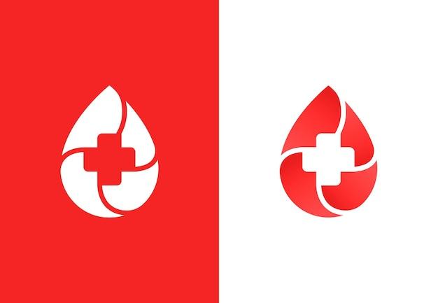 献血キャンペーンのための最小限のロゴタイプデザインテンプレート
