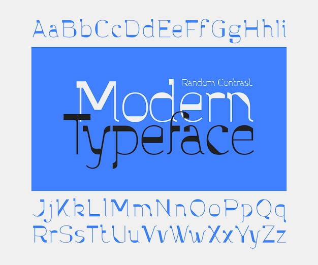 Минималистичный современный набор шрифтов