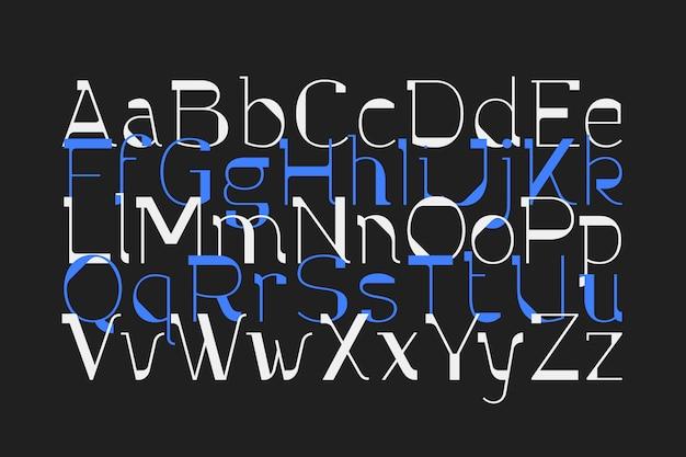 Set di caratteri moderno minimalista
