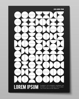 シンプルな幾何学的形状のミニマルなポスター