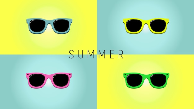 Minimalistic summer background
