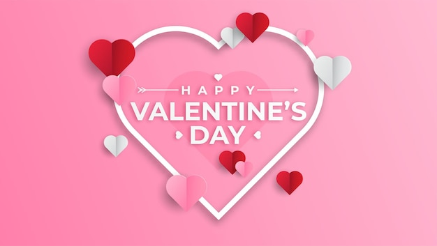 Minimalistic valentine's day