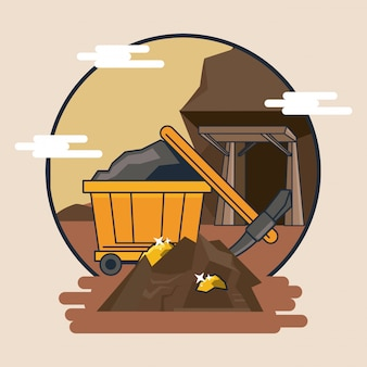 Mining cart and tools
