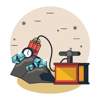 Mining cave cartoons