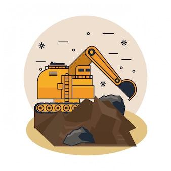 Mining hydraulic excavator