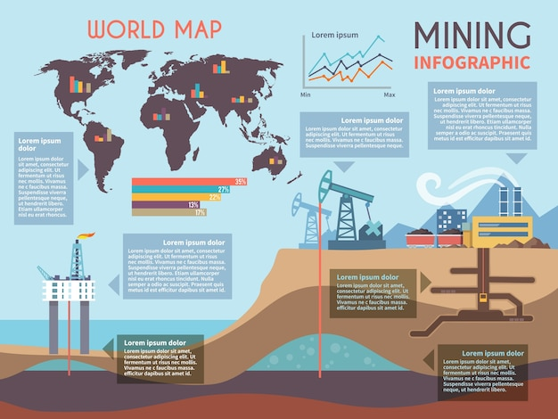 Mining infographics set