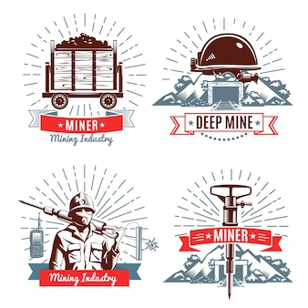 Mining logo and design elements