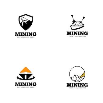 Mining logo template