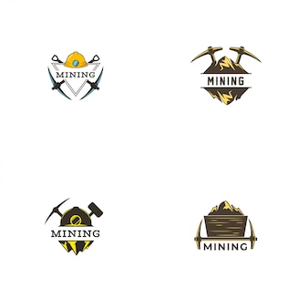 Шаблон логотипа mining