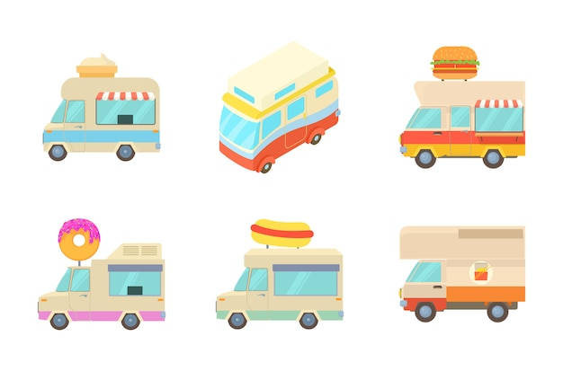 Minivan icon set