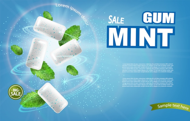 Mint chewing banner