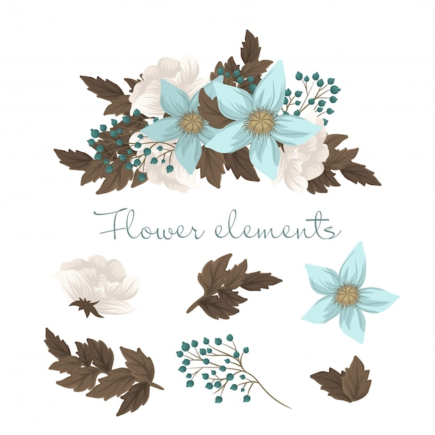 Mint green clipart flower isolated