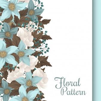 Mint green floral background flower border