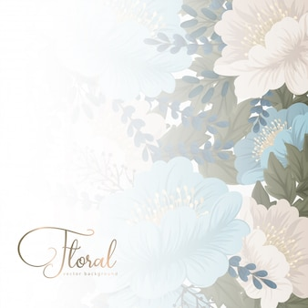 Mint green floral background