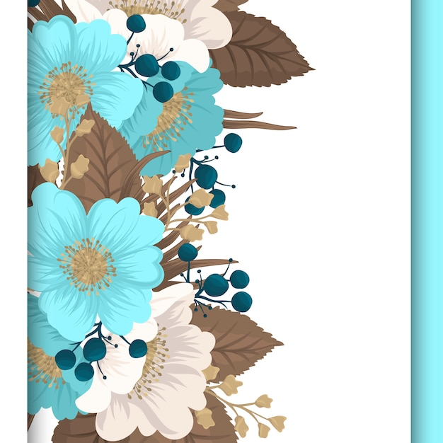 Mint green floral flower border