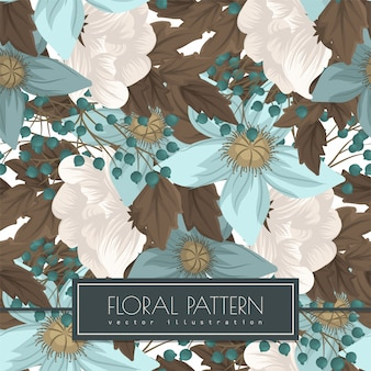 Mint green floral  seanless