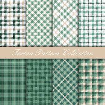 Mint green tartan collection