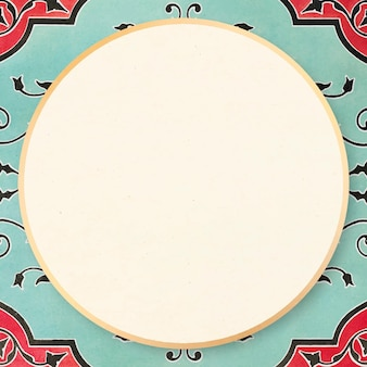 ミントグリーンヴィンテージフレームベクトル装飾イラスト