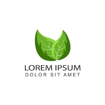 Mint leaf logo template design